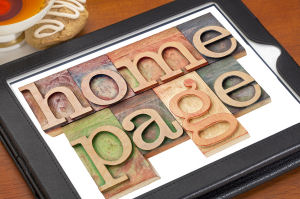 scrivere home page